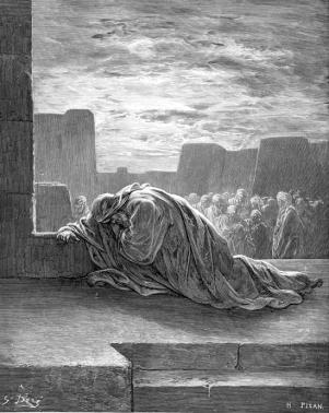 Ezra in Prayer - Gustave Dore