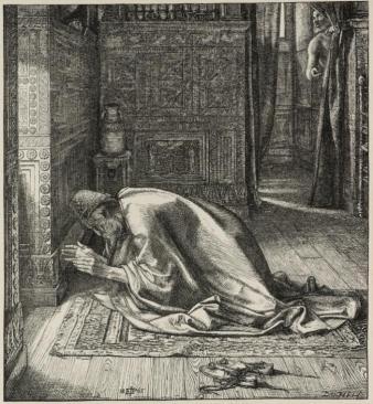 Daniel's Prayer 1865 by Sir Edward Poynter 1836-1919